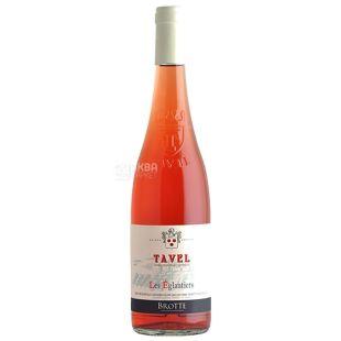 Brotte Les Eglantiers Tavel, Dry Rose Wine, 0.75 L