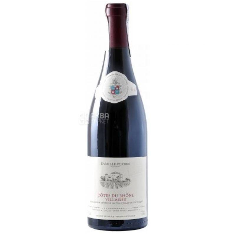 Perrin Cotes du Rhone Villages, Perrin et Fils, Вино красное сухое, 0,75 л