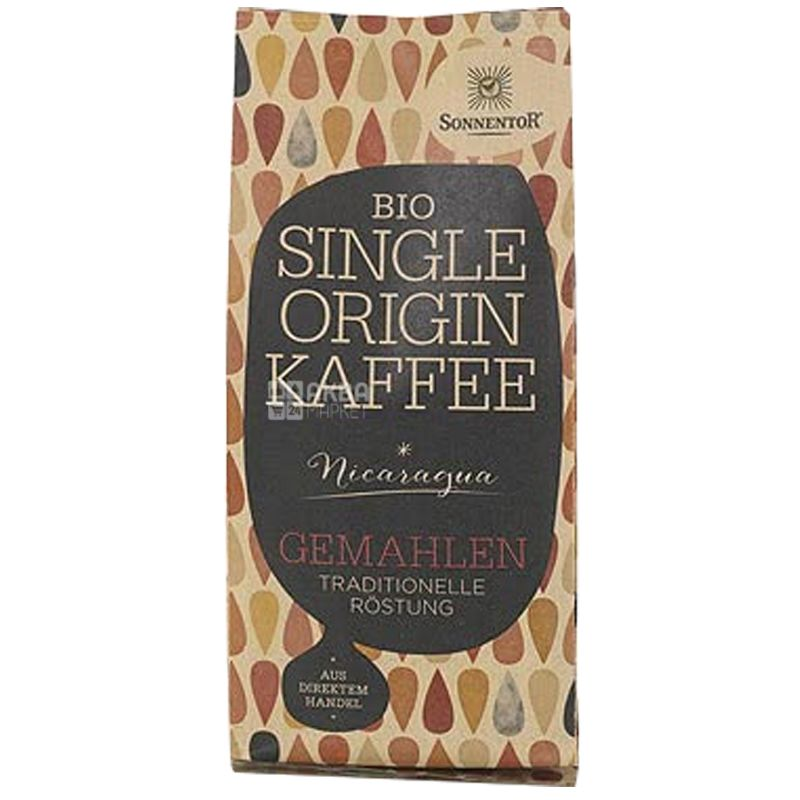 Sonnentor Bio Single Origin Coffee, 250 г, Кофе Соннентор Био Сингл Ориджин, средней обжарки, молотый