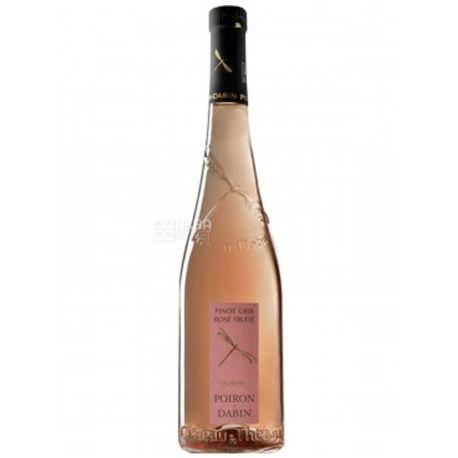 Poiron Dabin, Вино розовое полусухое Pinot Gris Rose Fruite 2017, 0,75 л