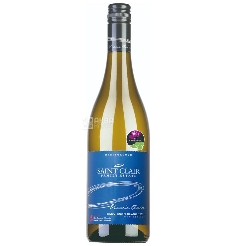 Saint Clair, Вино белое сухое Sauvignon Blanc Vicar's Choice, 0,75 л
