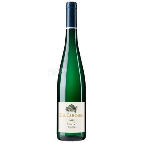 Riesling Trocken Graacher, Dr. Loosen, Вино белое сухое, 0,75 л