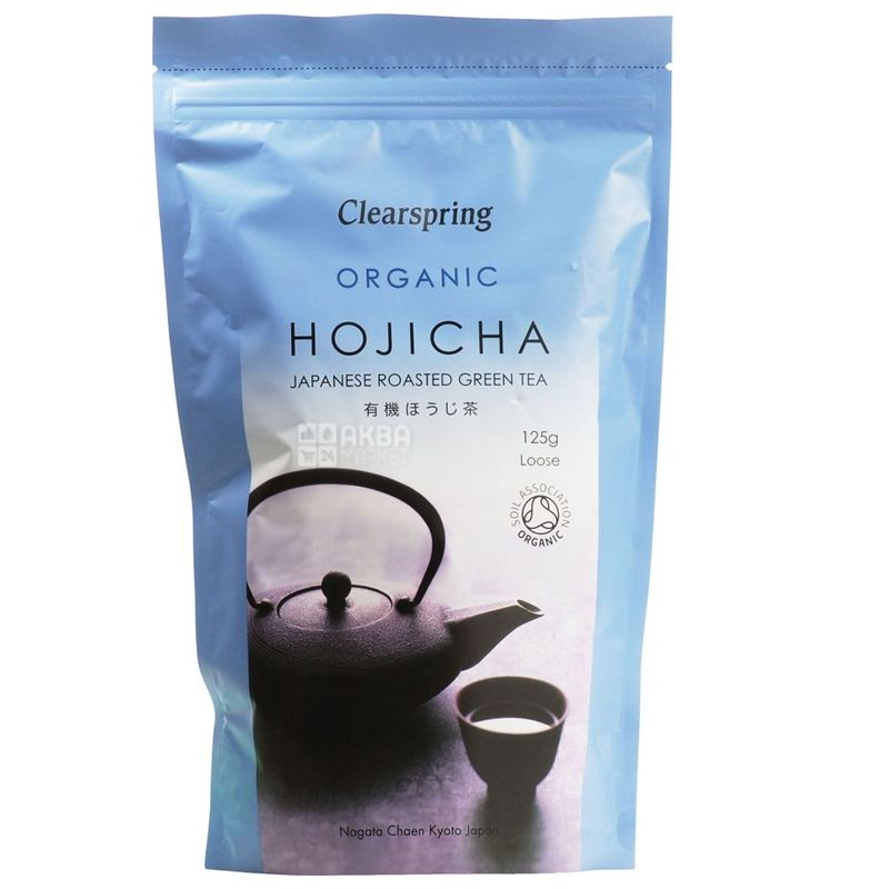 Clearspring, Hojicha, 125 г, Чай Клиаспринг, Ходзича, зеленый, органический