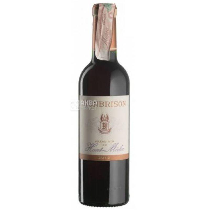 Chateau Siran, Le Haut Medoc de Monbrison 2012, Вино красное сухое, 0,375 л