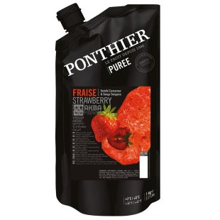 Ponthier, Mashed Strawberries Chilled, 1 kg