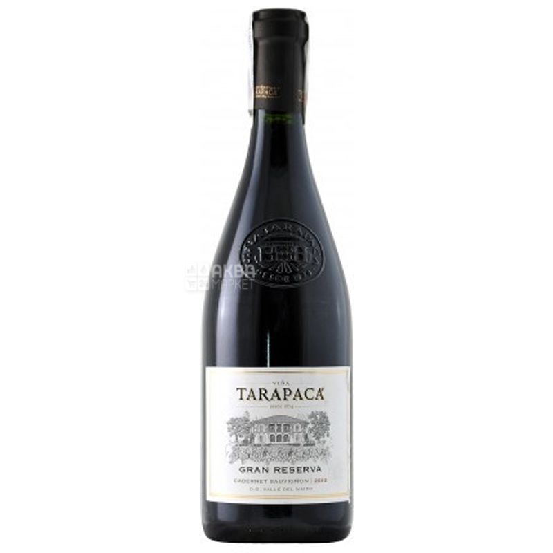 Cabernet Sauvignon Gran Reserva, Tarapacа, Вино красное сухое, 0,75 л