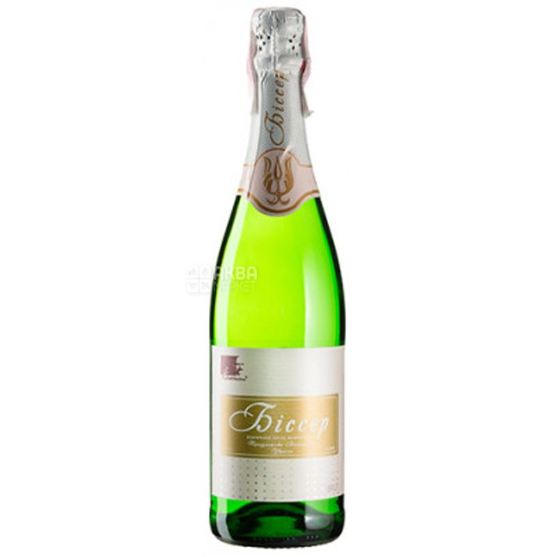 Биссер белое выдержанное брют, Колонист, Игристое белое вино, 0,75 л