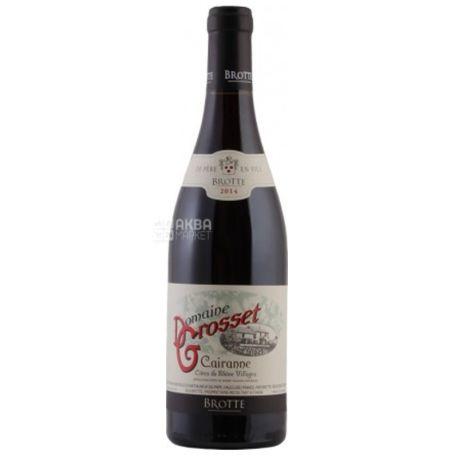 Domaine Grosset Cairanne, Brotte, Вино червоне сухе, 0,75 л