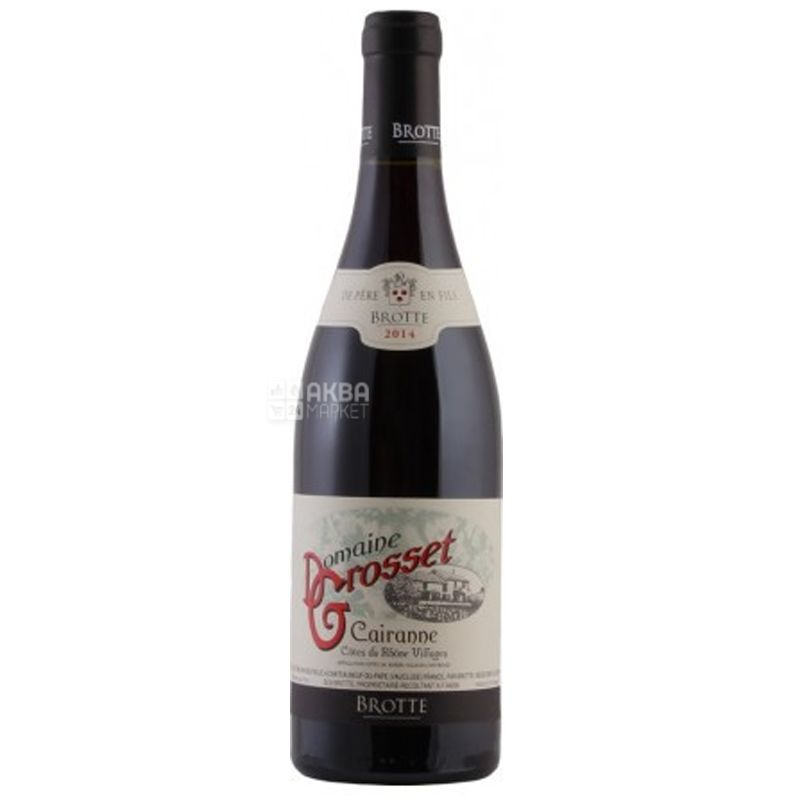 Domaine Grosset Cairanne, Brotte, Dry red wine, 0.75 L