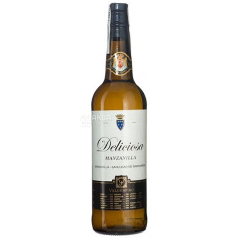 Manzanilla Deliciosa, Valdespino, Вино белое сухое, 0,75 л