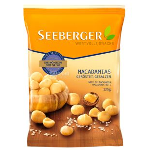 Seeberger, Макадамия ядра поджаренные подсоленные, 125 г