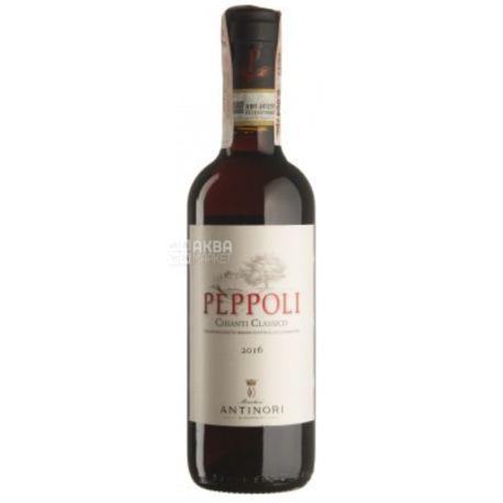 Pepolli Chianti Classico 2016, Marchesi Antinori, Вино красное сухое, 0,375 л