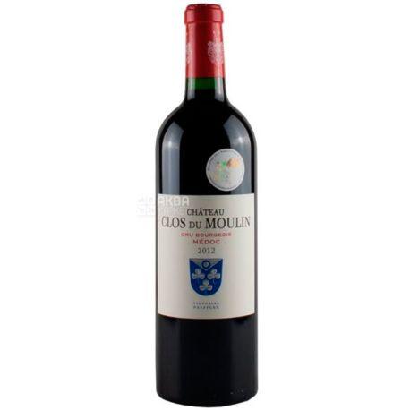 Chateau Clos du Moulin 2014 року, Вино червоне сухе, 0,75 л