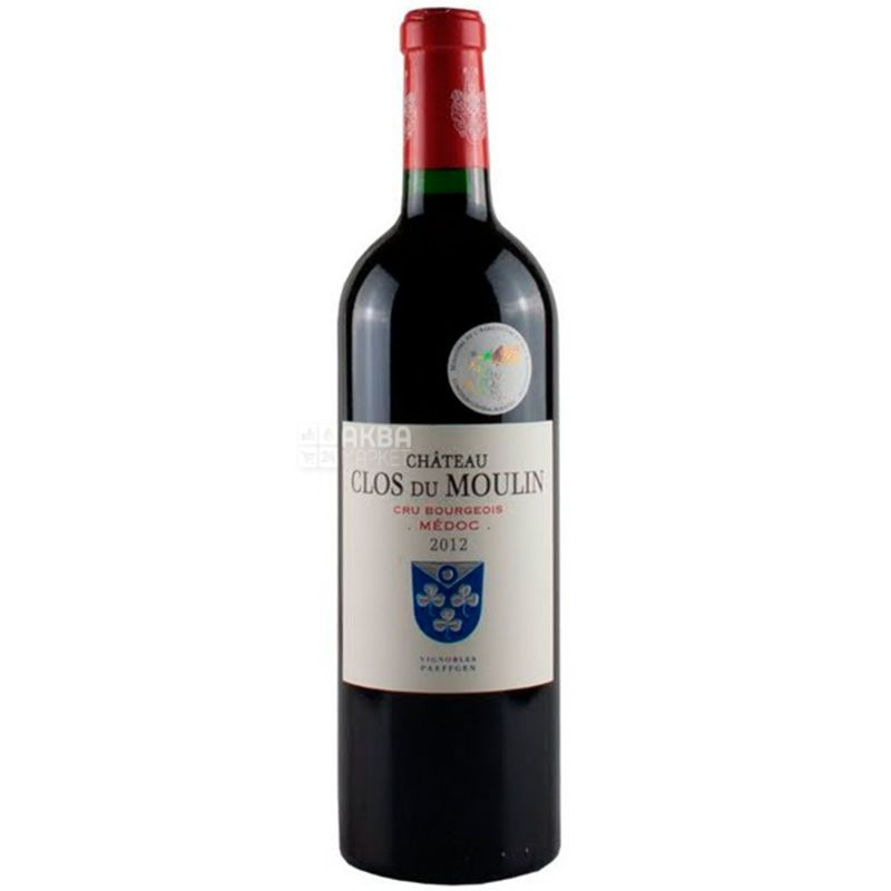 Chateau Clos du Moulin 2014, dry red wine, 0.75 l