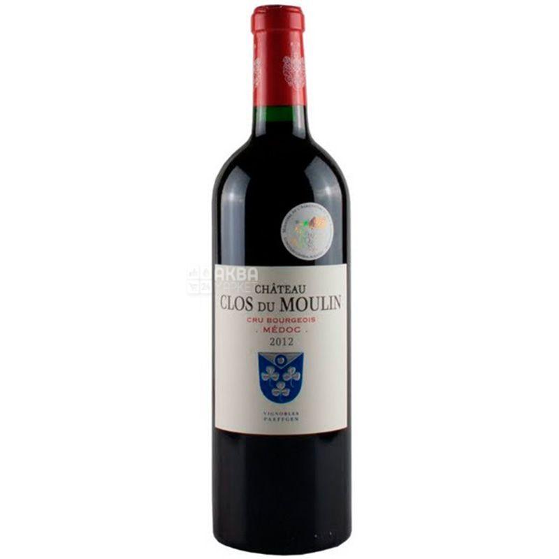 Chateau Clos du Moulin 2014, Вино красное сухое, 0,75 л