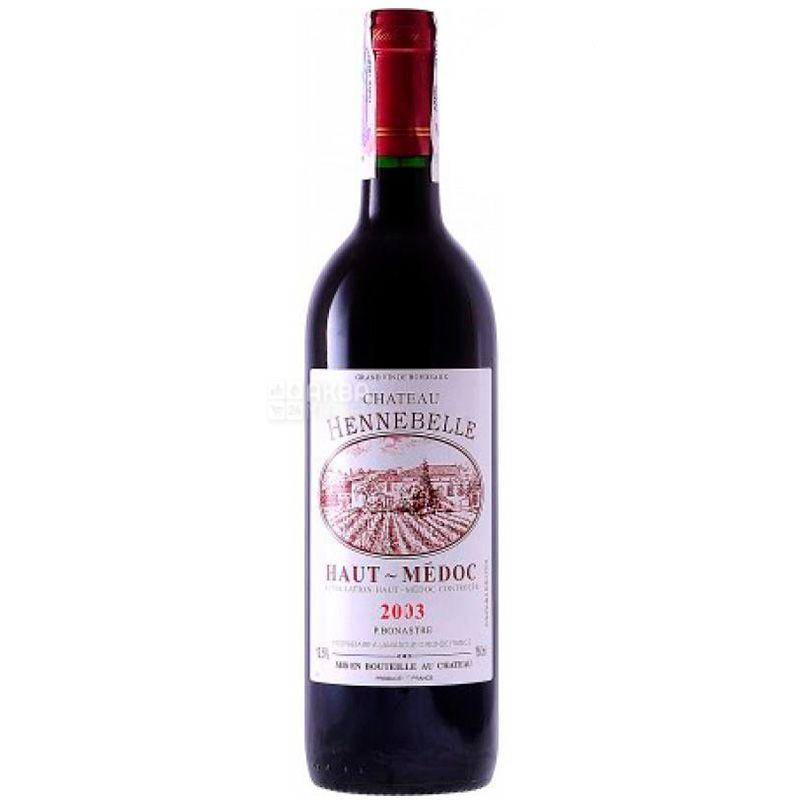 Chateau Hennebelle, Вино красное сухое, 0,75 л