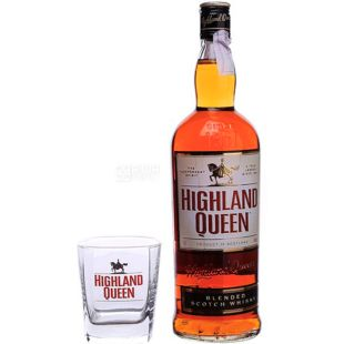 Highland Queen, Whiskey + Glass, 1 L