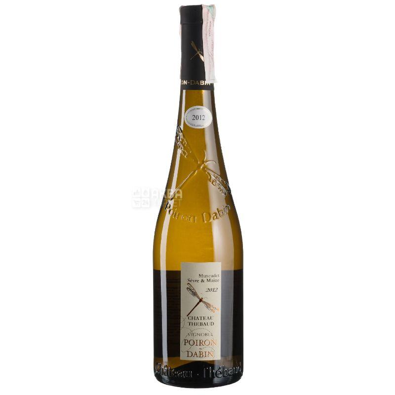 Poiron Dabin, Muscadet Sevre et Maine Chateau-Thebaud, Вино белое сухое, 0,75 л