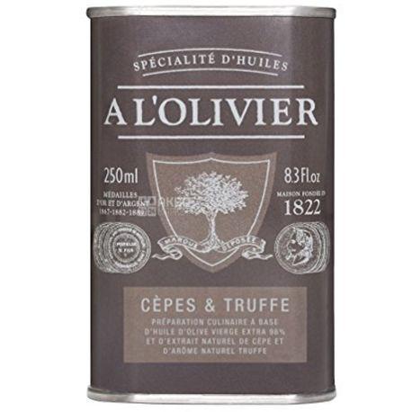 A L'Olivier, Масло оливковое, Extra Virgin, с черным трюфелем, 250 мл