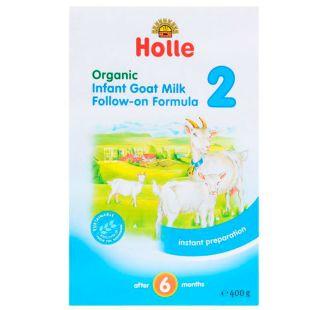 Holle, Суміш дитяча з козиного молока №2, органічна (з 6 місяців) 400 г,