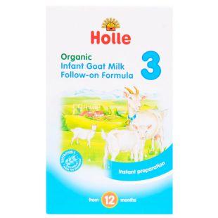 Holle, Суміш дитяча з козячого молока №3, органічна, з 12 місяців, 400 г