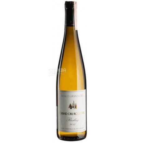 Riesling Rosacker Dry 2017, Hunawihr, Вино белое полусухое, 0,75 л