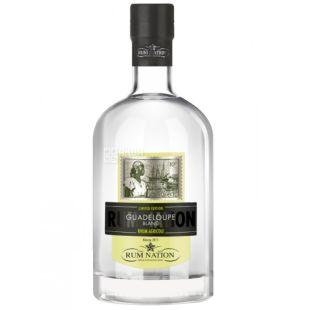 Rum Nation Guadeloupe Blanc, Ром белый крепкий, 0,7 л