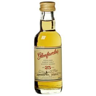 Glenfarclas, Single Malt Whiskey 25yo, 43%, 0.05 L