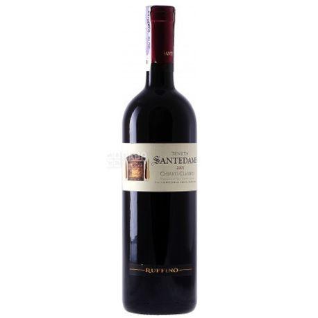 Ruffino, Santedame Chianti Classico, Вино красное сухое, 0,75 л