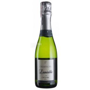 Lamiable, Шампанське біле сухе Brut Grand Cru, 0,375 л