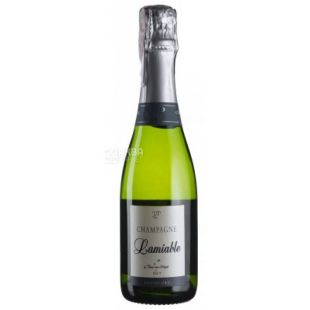 Lamiable, Шампанское белое сухое Brut Grand Cru, 0,375 л