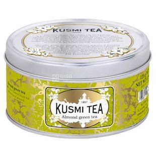 Kusmi Tea, Almond, 125 г, Чай Кусми Ти, Миндаль, зеленый, ж/б