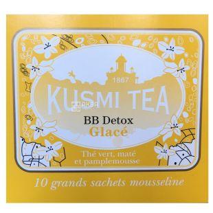 Kusmi Tea, BB-Detox,10 пак. х 9 г, Чай Кусми Ти, ББ-Детокс, зеленый, с цветочным букетом