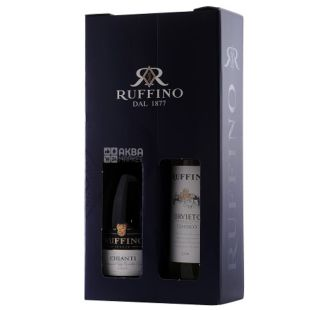 Ruffino Chianti - Orvieto, Red and White Dry Wine, Gift Set