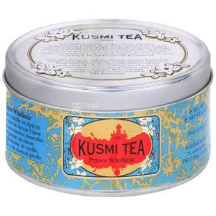 Kusmi Tea, Prince Vladimir, 125 г, Чай черный с пряностями Кусми Ти, Князь Владимир, ж/б