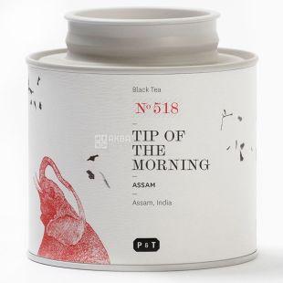 P & T, Tip of the morning, Assam, 80 г, Пи Ти, Ассам Прикосновение утра, чай черный, ж/б
