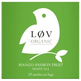 LoV Organic, Чай белый органический Манго-Маракуйя, 20 пак. х 2,2г