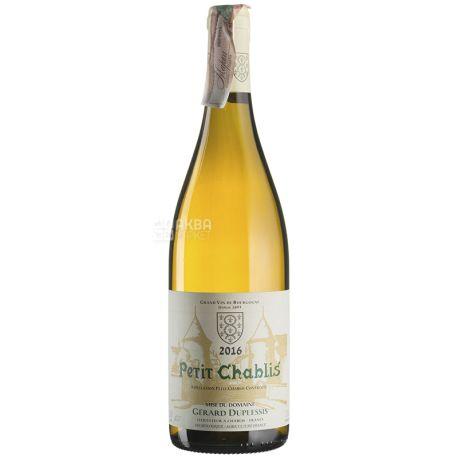 Petit Chablis 2016, Gerard Duplessis, Вино біле сухе, 0,75 л