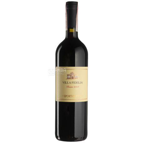 Villa Fidelia Rosso 2014, Sportoletti, Вино красное сухое, 0,75 л