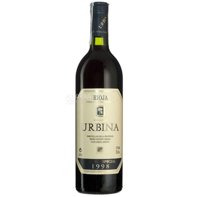 Urbina Reserva Especial 1998, Вино червоне сухе, 0,75 л