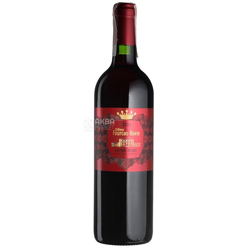 Chateau Fourcas Borie 2013, Вино червоне сухе, 0,75 л