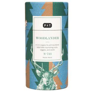 P&T, Woodlander, 100 г, Чай ПиТи, Вудлендер, черный, органический, тубус