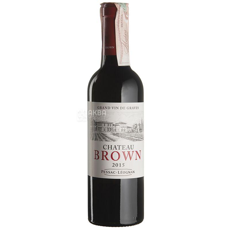 Rouge Chateau Brown Вино красное сухое, 0,375 мл