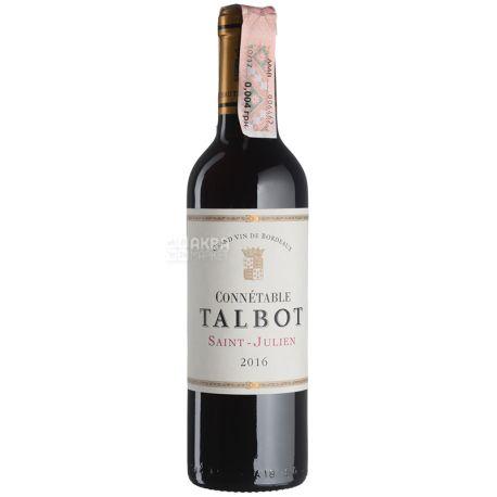 Connetable Talbot Вино красное сухое, 0,375 л