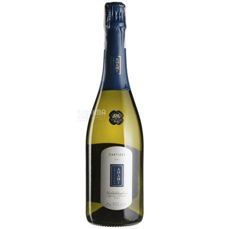 Cartizze Adriano Adami Белое игристое сухое вино, 0,75 л