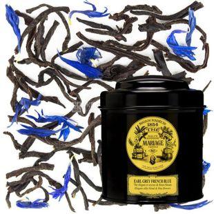 Mariage Freres, Earl Grey French Blue, 100 г, Чай Мар'яж Фрере, Ерл Грей Френч Блю, чорний з бергамотом і пелюстками квітів, ж/