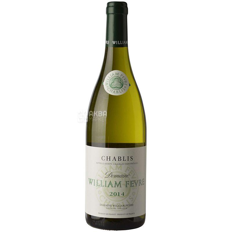 William Fevre Chablis, Вино белое сухое,  0,75 л