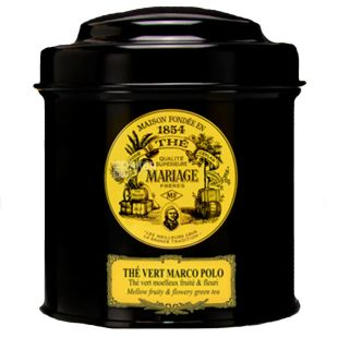 Mariage Freres, The Vert Marco Polo, 100 г, Чай Марьяж Фрере, Верт Марко Поло, зеленый с лепестками цветов, ж/б