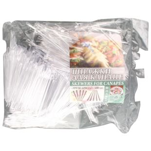Ваиэр Призма, Шпажки для бутерброда, 9 см, прозрачные, 1000 шт.