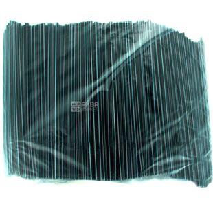 Помощница, Трубочки для напитков пластиковые черно-белые, 21см, 1000шт